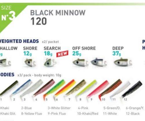 Black Minnow 120 n3 10 g 1 cuerpo extra 2