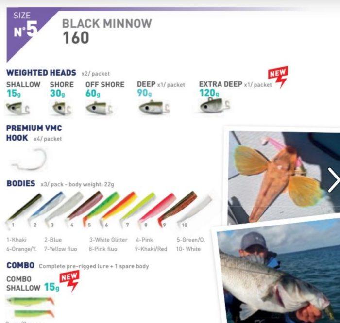 Black Minnow 160 n5 60 g 1 cuerpo extra