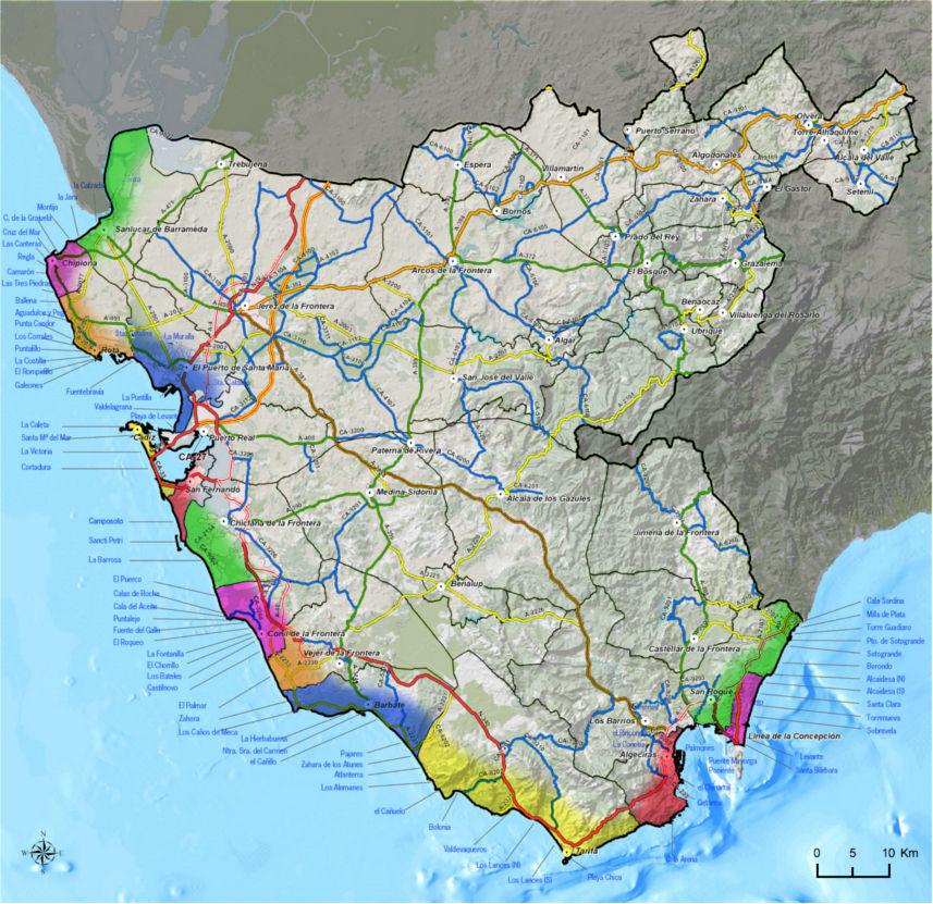 Tienda de pesca en Cádiz Mapa