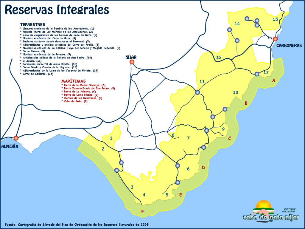 mapa de tienda de pesca en Almería