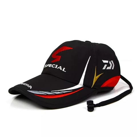 Gorra daiwa negra roja negra