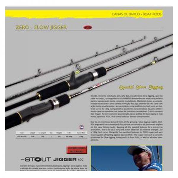 Caña jigging BARROS ZERO SLOW JIGGER 40-300 gr - 2.00m