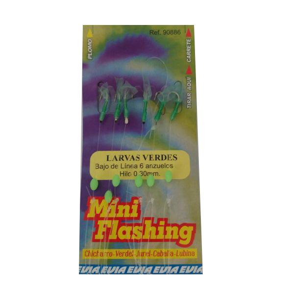 Evia Larvas Verdes Bajos Mini Flashing