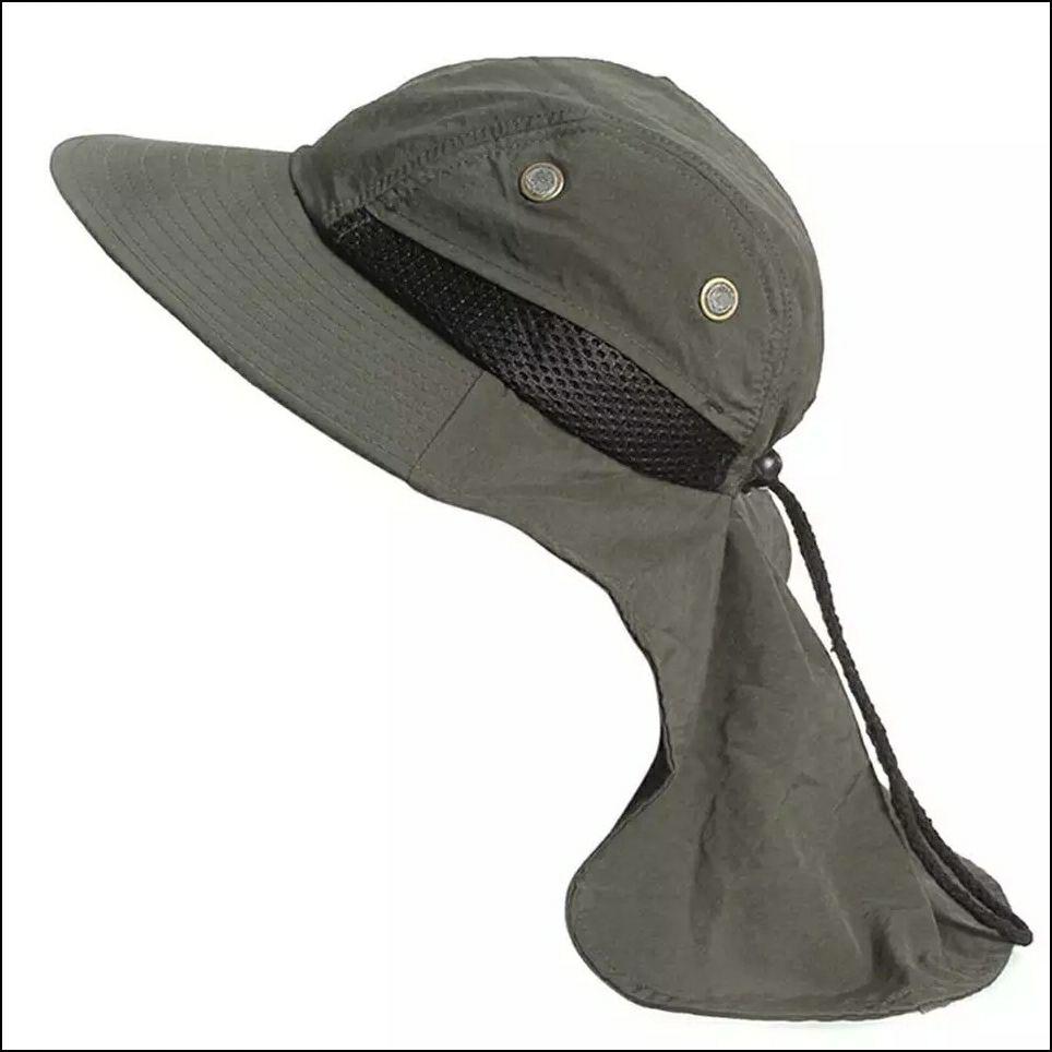 Gorra con protección cuello